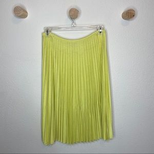 ST. John collections bright yellow pleated skirt